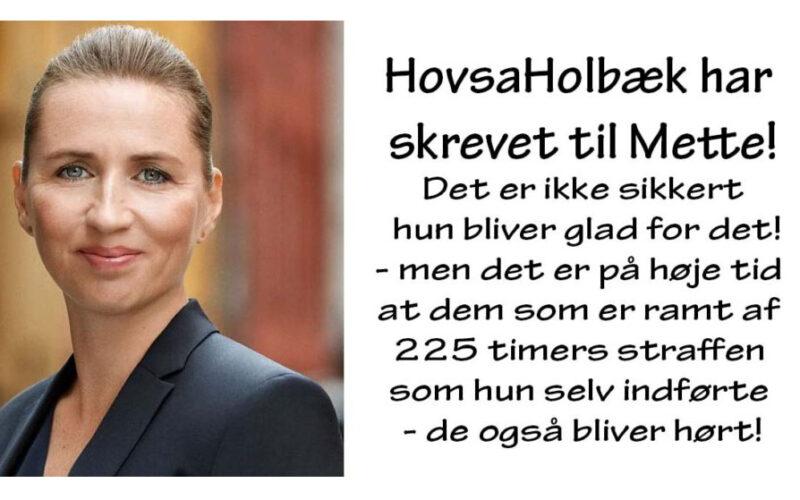 Statsminister Mette Frederiksen har fået brev fra HovsaHolbæk